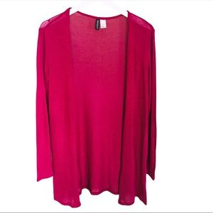 H&M Open Cardigan/Sweater Red/Pink Size Small
